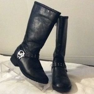 Michael Kors Carlitos black boots kids size # 1